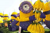 Haarlem, The Netherlands - April 21 2013: Despicable Character With Flowers At Flower Parade On Apri