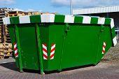 Green Skip For Waste