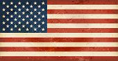 stock photo of glory  - Vintage style flag of the United States of America - JPG