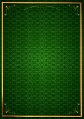 Corner patterns in green wallpaper