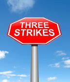 Three Strikes Concept.