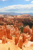 Bryce Canyon National Park landscape, Utah, USA. Nature scene showing beautiful hoodoos, pinnacles a