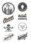Quality and Guarantee Labels with retro vintage styled design collection