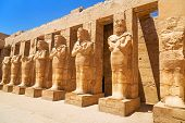 stock photo of pharaohs  - Ancient architecture of Karnak temple in Luxor - JPG