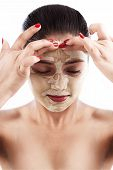 Sandal facial mask of indian female