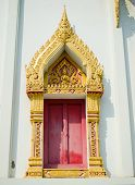 Beautiful Thai Temple Window In Thailand