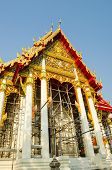 Beautiful Thai Temple During Repairing