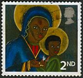UK - CIRCA 2005: A stamp printed in UK shows image of The Black Madonna and Child from Haiti, circa