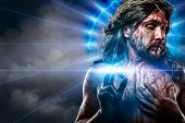 stock photo of halo  - calvary jesus - JPG
