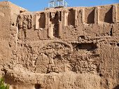 Una estructura de Adobe de Kashan bazar en Kashan Irán