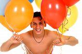 Homem Valentim balões