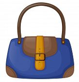 Illustration of a blue office bag on a white background
