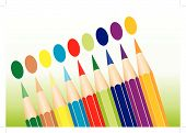 Colored Pencils Lined Up