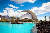 TENERIFE, SPAIN - SEPTEMBER 16: Auditorio de Tenerife on September 16, 2011.Designed by architect Santiago Calatrava Valls become an architectural symbol of city Santa Cruz de Tenerife.