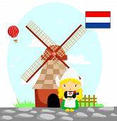 Dutch Flag And Culture