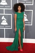 LOS ANGELES - FEB 10:  Solange Knowles arrives to the Grammy Awards 2013  on February 10, 2013 in Los Angeles, CA.