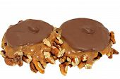 Chocolate And Caramel Candy With Pecans