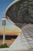 Bmw Welt -world- Building Combined With Olympia Park Tower, Munich