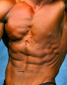 pic of abdominal muscle man  - a photo of well defined abdominal muscles - JPG