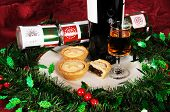 Mince pies with sherry.