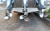 Motor Propeller Of Speed Boat