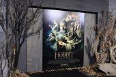 LOS ANGELES - DEC 2: Atmosphere, poster, display at the premiere of Warner Bros' 'The Hobbit: The De