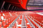 BEIJING - APRIL 12. Bird's nest interior at Apr. 12, 2011. The Bird's Nest is a stadium in Beijing,