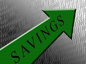 Savings Green Arrow