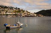 stock photo of dartmouth  - The sun setting over the Dart Estuary - JPG