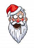 Crazy Santa Head