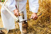 Sharpening A Scythe