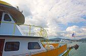 Deck Of Passenger Ship