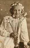 POLAND, CIRCA 1938 - vintage photo of First Communion, Poland, circa 1938