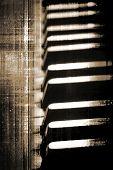 Grunge Piano Keys