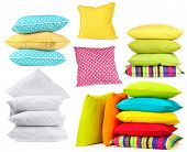 Collage of color pillows