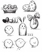 Selection of Easter drawings