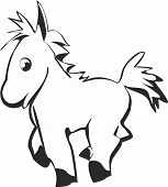 Vector cartoon funny horse