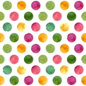 Watercolor circles pattern