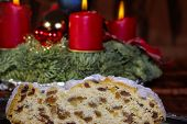 Advent Season With Christmas Stollen
