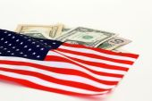 Us Flag And Money
