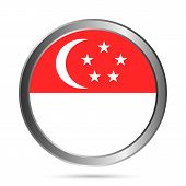 Singapore Flag Button.