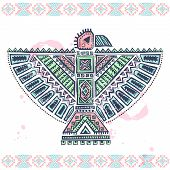 Tribal native ethnic eagle illustration