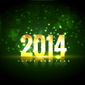 beautiful shiny 2014 golden happy new year design background