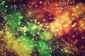 Galaxy, space abstract background. Stars, planets, lights, colors
