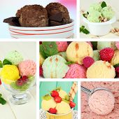 Collage of yummy ice-cream