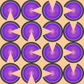 stock photo of semi-circle  - Vivid color hypnotic semi circle seamless pattern - JPG