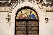 Saint Methodius and Saint Cyril fresco