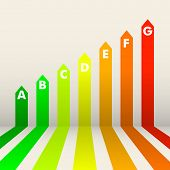 detailed illustration of an energy efficiency rating background