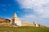 Erdene Zuu Monastery Walls In Ancient City Of Kharhorin, Central Mongolia