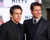LOS ANGELES - DEC 3:  Ben Stiller, Tom Cruise at the Ben Stiller Handprint and Footprint Ceremony at Dolby Theater on December 3, 2013 in Los Angeles, CA